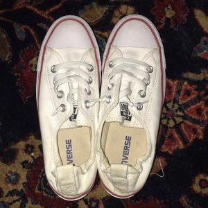 White Converse shoreline slip sneaker